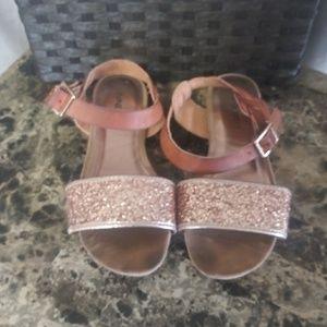 Little Girls Nine West Leather Sandals-EUC